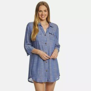 Dotti button down tunic size medium